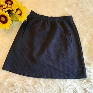 anthropologie navy blue jersey skirt